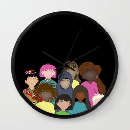 Women portrait Wall Clock