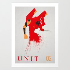 Evangelion Unit 02 Art Print