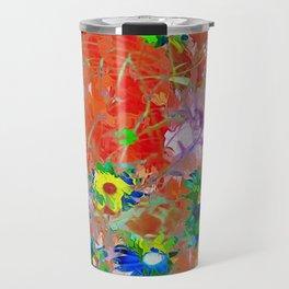 Wildflower Abstract Travel Mug