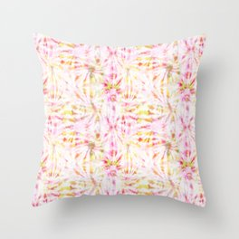 Summer Vibes Tie Dye in Bouquet Throw Pillow