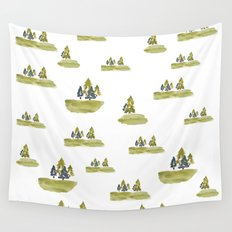 Varigated pine forest Wall Tapestry