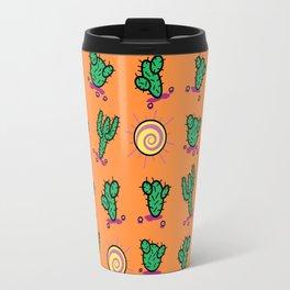 Sunny Cacti In The Arizona Desert - Orange Travel Mug