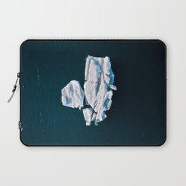 Lone, minimalist Iceberg from above - Landscape Photography Laptop Sleeve