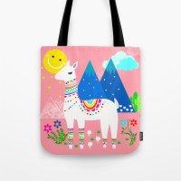 peru Tote Bags featuring Peru - Pastels by MY  HOME