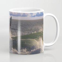 Surfing the Wedge Coffee Mug