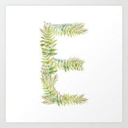 Initial E Art Print