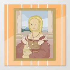 Lady with Unicorn by Raphael Canvas Print