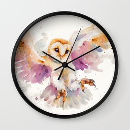 Twilight Owl Wall Clock
