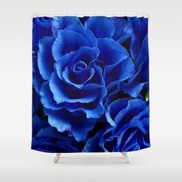 Blue Roses Flowers Plant Romance Shower Curtain