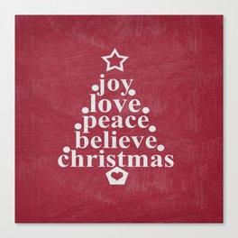 Joy Love Christmas Canvas Print