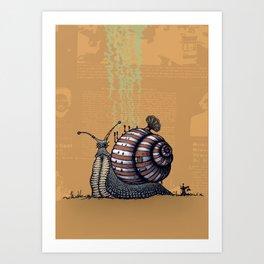 Snail level 2 Art Print