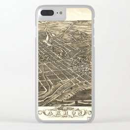 Aerial View of Akron, Ohio (1882) Clear iPhone Case