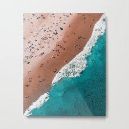 Surfers Surfing Bondi Beach Metal Print