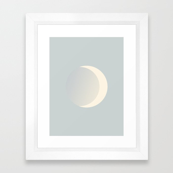 Ethereal Moon Framed Art Print