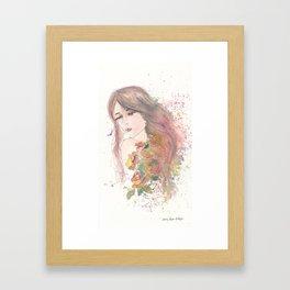 Never Not A Lovely Girl Framed Art Print
