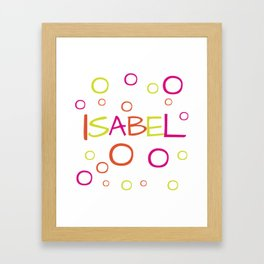 Isabel Framed Art Print