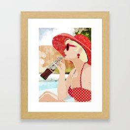 Retro Vacation Framed Art Print