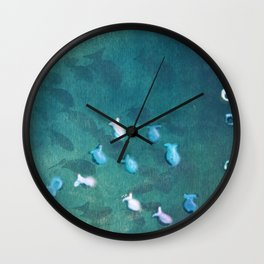 Life is one big sea of goldfish and cheerios Wall Clock