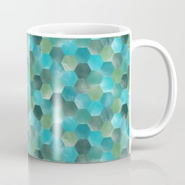 Mint blue and greens mosaic tile pattern Coffee Mug