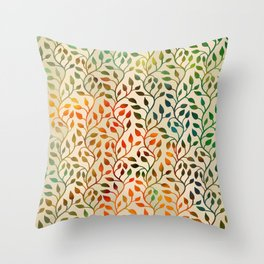 Pattern of Small Autumn Leaves Throw Pillow