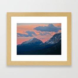 Glacier National Park Sunset Framed Art Print