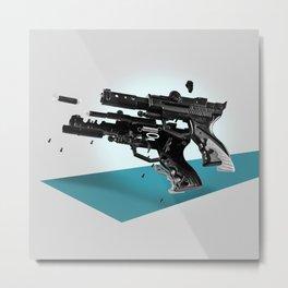 Exploded Toy Gun Metal Print