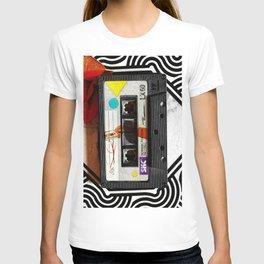 retro audio cassette design T-shirt