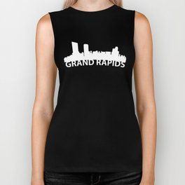 Curved Skyline Of Grand Rapids MI Biker Tank