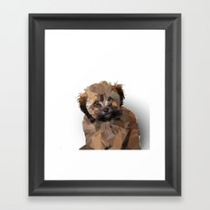 Cocoa, the puppy Framed Art Print
