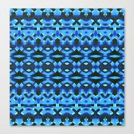Rhythmic Blue Deep Tribal Song Canvas Print