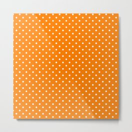 Dots (White/Orange) Metal Print
