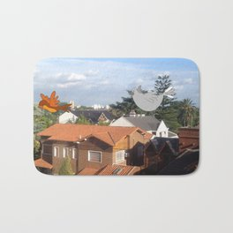 Flying with friends. Bath Mat