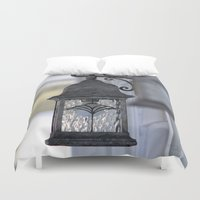 the lights Duvet Covers featuring Lights by Alex Dodds