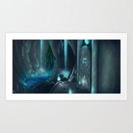 Cavern adventures Art Print