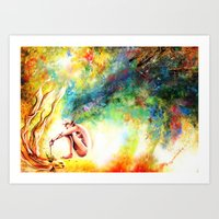 fishing Art Prints featuring FISHING by danyDINIZ