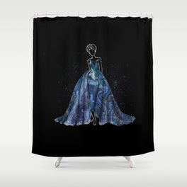 Evening Gown Fashion Illustration #4 Shower Curtain