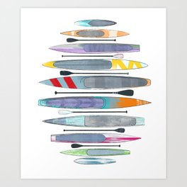 SUP paddleboards Art Print