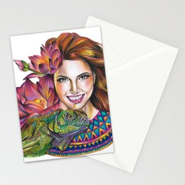 Lotus beauty Stationery Cards