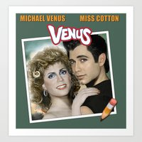 grease Art Prints featuring Grease by House of Venus