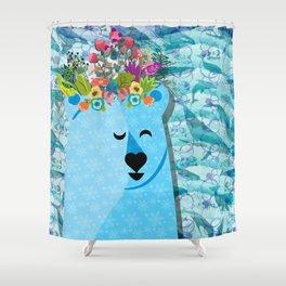 Polar Bear: Peace Shower Curtain