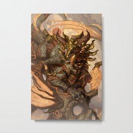 Zodiac Dragons Calendar Leo Metal Print