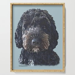 Black Cockapoo / Doodle Dog  Serving Tray