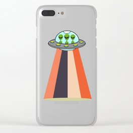 "Cool Tee For An Alien You ""Unidentified Flying Object"" T-shirt Design UFO Substantial Science Clear iPhone Case"