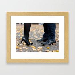 Central Park Meeting Framed Art Print
