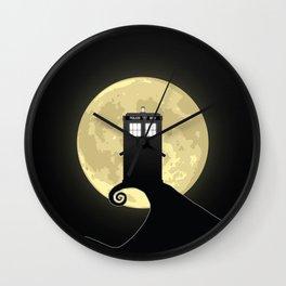 Nightmare Before A Tardis Wall Clock