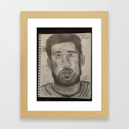 Aaron Rodgers Framed Art Print