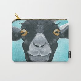 goat art.  'Willie from acrylic on canvas goat painting Carry-All Pouch