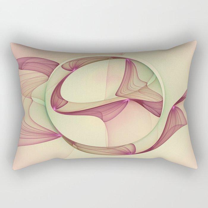 The Abstract Elegance, Modern Fractal Art Rectangular Pillow