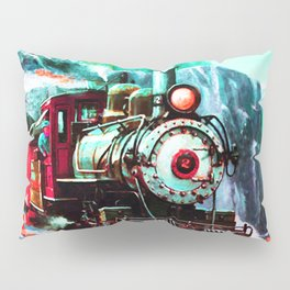 starry night train Pillow Sham
