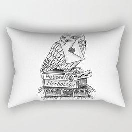 Hedwig On Books Rectangular Pillow